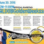 TOGETHER FOREVER ???? HAPPY GOLDEN WEEKSARY ALDUB! More To Come! ???? ~OFFICIAL HASHTAG #ALDUBGoldenWeeksary https://t.co/7Fte0dR4oK