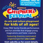 The #Oakville Childrens Festival at Coronation Park begins at 9am on July 10th https://t.co/K0qAX52f3M https://t.co/pvc8bzTyvj