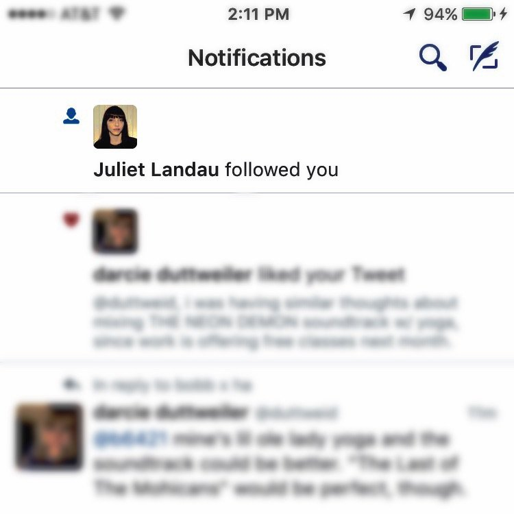 suddenly feeling pressure to tweet better b/c the verified acct for Drusilla from BtVS has started following me.