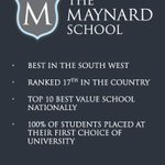 Proud to be the highest ranked school in the #SouthWest! See: https://t.co/8AdQBfccCS #Exeter #DevonHour #Education https://t.co/KdjXHr8flh