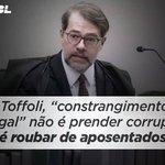 """Dias Toffoli """"Constrangimento Ilegal"""" É o @STF_oficial estar a serviço dos CRIMINOSOS DE COLARINHO BRANCO!!! https://t.co/5o12xI435R"""