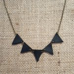 Leather bunting necklace available from @BirdsYardSheff #leather #handmade #sheffieldissuper #shoplocal https://t.co/70yKdIPLl7