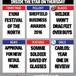 £10M Festival plans, Sheffield business Awards pullout, New retail park + #swfc +#twitterblades The Star on Thursday https://t.co/VqcWBSsKiy