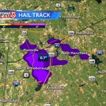 Reports of some hail in the storm along I-495 in Mansfield/Norton. Heavy downpours, lightning. #WCVB https://t.co/XO0BF2miR5