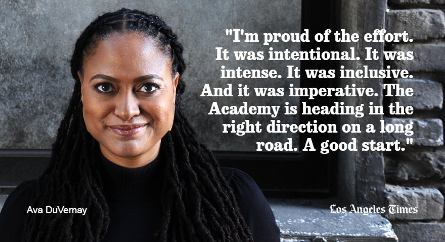 Ava DuVernay (@AVAETC) reacts to @TheAcademy's class of 2016. For more on the class: https://t.co/LFvMCey2SD https://t.co/KeKhDhcDLC