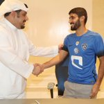 """وقع سمو رئيس نادي #الهلال عقدًا احترافيًا مع الدولي """"عبدالمجيد الرويلي""""؛ ليمثل بموجبه الفريق الأول لمدة عامين. https://t.co/P0fNF4LfOt"""