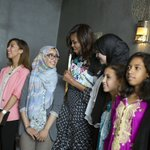 """To dream big, you have to be willing to take risks"" —@FLOTUS in Morocco: https://t.co/gz2Uh0bgPt #LetGirlsLearn https://t.co/byEiVgq1pg"