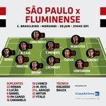 Time pronto e escalado! #VamosSãoPaulo! https://t.co/xBpacK9kI8