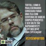 INDEPENDENTE DE TAG TODOS USEM Dias Toffoli que está nos #trends BRASIL TEM NOJO DE VC! SOS LAVA JATO @STF_oficial https://t.co/w86HvZpjDI