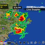 Heavy rain, small hail, lightning in Essex County. Storms moving northeast. #wbz https://t.co/YQtGp5KihV