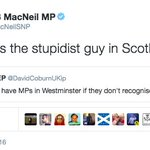Angus MacNeil accuses David Coburn of being the stupidest guy in Scotland. Fails to spell stupidest correctly. https://t.co/0W3DxlbaJs