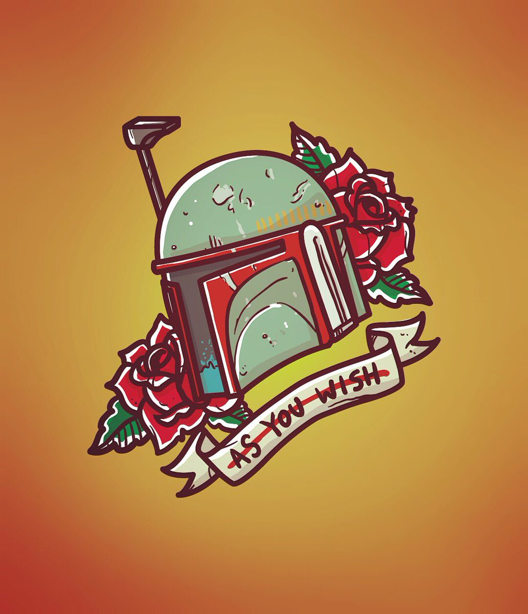 Wanted to do a Boba Fett. Did a Boba Fett. #tattoo #illustration #flash https://t.co/nbC7DbuAdR