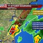 Storm moving NE around 20 mph. Rye Beach, Portsmouth, York in path. Hail, lightning, wind threats. #wcvb https://t.co/8LKeJgDBvM
