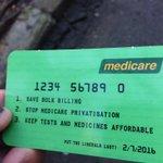 Just got handed this #Medicare card at Central Station Sydney. Good work @actudave ! #ausvotes #savemedicare https://t.co/EmYeIpM1K6
