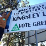 """another contender for best sign of #ausvotes - Kingsley Liu, Greens for Lindsay - """"Asian Greens are good for you"""" https://t.co/g7rKFpMSsD"""