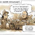 "Todays cartoon on the magic pudding of ""welfare compliance"" budget savings https://t.co/p9oMDdztwU #ausvotes https://t.co/Q9GAcMbxaj"