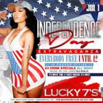 🔵 Friday ⚪️ NIGHT 🔴  🔥 #Lucky7s  🔥   is the move EVERYBODY FREE til 12   $3 Drinks All night #IndependenceDay https://t.co/UMUwfBBsEc