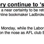 """Ladbrokes says odds shorten, but not on Shorten ... """"Punters believe Malcolm Turnbull is a near certainty"""" #auspol https://t.co/Dzx2Ke7HAk"""