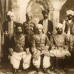 Khan of Dir, Mehtar of #Chitral and Khan of Nawagai in ceremonial attire for the Coronation Durbar at #Delhi ~1902. https://t.co/b6Djw222ZF