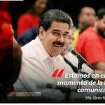 """Estamos en el mejor momento de la batalla comunicacional"" #ChavistasEnRebelionPopular @NicolasMaduro https://t.co/xNJVs5hsjk"