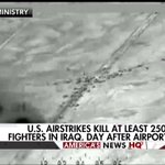 News Alert: U.S. airstrikes kill at least 250 ISIS fighters in Iraq after airport attack. https://t.co/oMkMCb0vBB