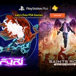 Furi and Saints Row: Gat out of Hell are free for PS Plus members next month: https://t.co/T96vVe4sb2 https://t.co/hMSaWj4vTK