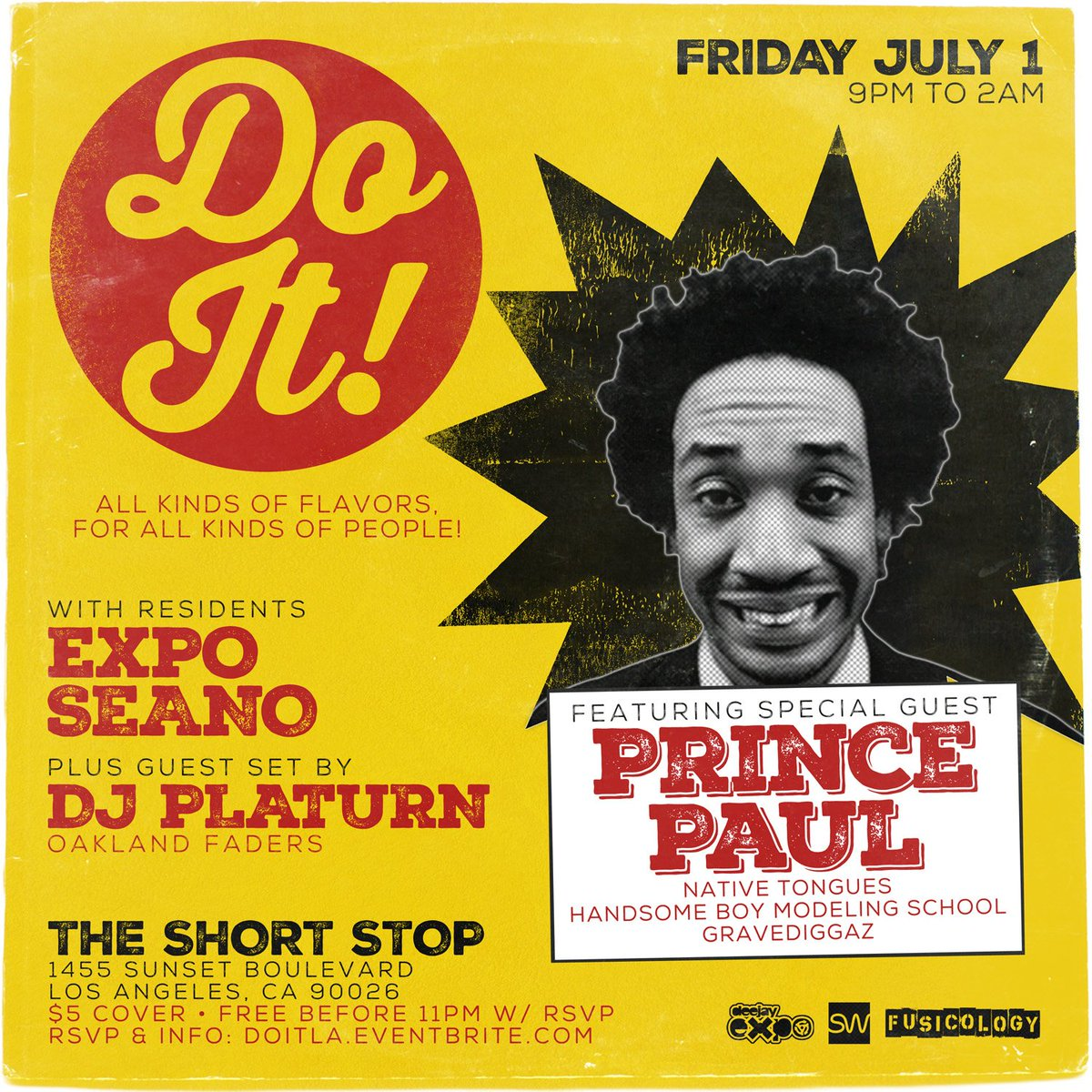 LOS ANGELES this FRIDAY at @The_Short_Stop with @DJPrincePaul, @DJExpo, & @DJSeanO! RSVP @ https://t.co/RKTfebVg9Z https://t.co/XR08ecyuiY