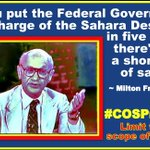MT @jstines3: If you put the FEDERAL GOVERNMENT in charge of the Sahara Desert... #COSProject #PJNET   https://t.co/2SqyV4FeNs