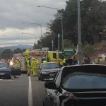 2 Major Traffic incidents in #Canberra right now. Heres a 4 car accident on the Barton Hwy at Gungahlin Dr https://t.co/V9DHGGJRFL