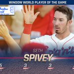 .@Seth_Spivey6 picked up three doubles in tonights win on his way to the @189window Player of the Game. #GoSpo https://t.co/OaEU7Dw4ho
