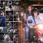 Keliling Kota tengah malam dg mmbagikan sembako bgi warga. Brayan Numpak Motor, Brayan Sahur.  #SahurOnTheRoad https://t.co/TnaDdltqhJ