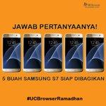 Cukup jawab semua pertanyaan dr Mimin. Ada 5 buah Samsung S7 yg akan dibagikan.RT kalo sdh siap #UCBrowserRamadhan https://t.co/Lcr4cqlDBe