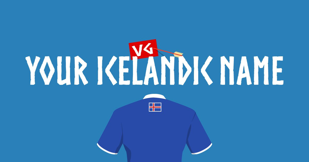Now available in six different languages! What's your Icelandic name? https://t.co/ho3wLud9UF https://t.co/UW9N9Ywi1x
