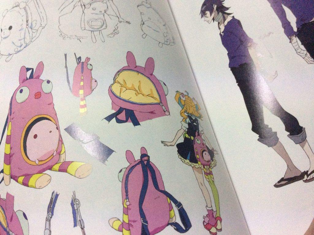 1巻のブックレットはキャラクター設定 2巻は美術設定が掲載されています 美術めっちゃきれい! 三輪原案も載ってますよ #