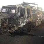 M1 Sthbound @ Mudgeeraba still shutdown after car carrier accident this afternoon @9NewsGoldCoast https://t.co/FnVWS1P7wU