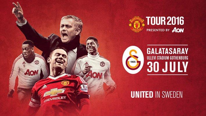 Manchester United, 30 Temmuz'da Galatasaray ile İsveç'te maç yapacağını duyurdu. https://t.co/yA1iB7vBqw