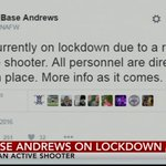 JUST IN: Joint Base Andrews on lockdown, reports of an active shooter https://t.co/pCwAiyNWyh https://t.co/gl41gp9BeX