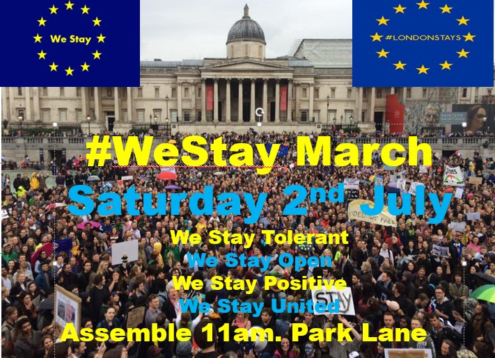 Who's going to this? Saturday @ 11am? #marchforeurope #westay https://t.co/O98wRou5Lj