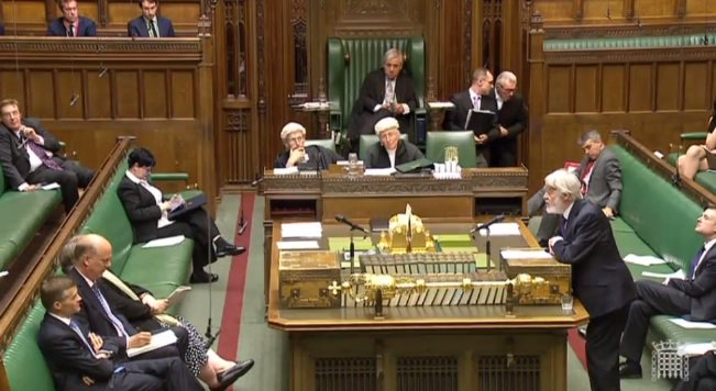 Yes, that really is Paul Flynn at the Despatch Box. He made the front bench at the age of 81. What times. https://t.co/hW4WY0SEut