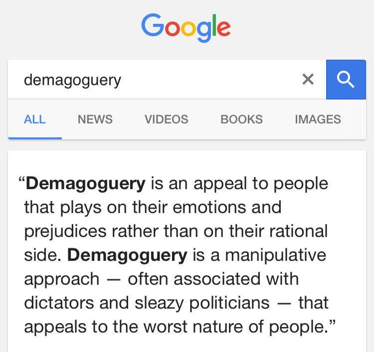 Just learned a new word listening to @mrjamesob on @LBC #demagoguery https://t.co/cq1KSpaepZ