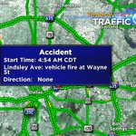 Lindsley Ave and Wayne- vehicle fire reported. Not far of I-30. Just north of there. #traffic #DFW https://t.co/SJpOdoCiUl