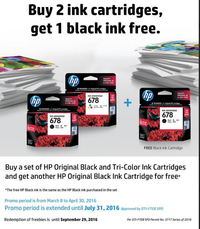 HP offers free Black Ink for every Ink cartridge purchased https://t.co/PwNzoGsI00 #HP #ComputerDeals @HP https://t.co/d2oS7JPsVd