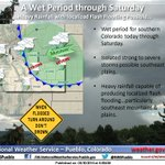 Thunderstorms capable of producing heavy rainfall possible today thru Saturday. #TurnAroundDontDrown #cowx https://t.co/aGlneYxfD1