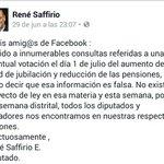 Desmienten informacion en facebook sobre votación de 1/julio sobre reducción de pensiones vía @renesaffirio https://t.co/sAZDAXwr8G