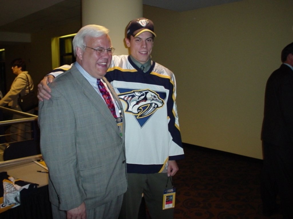 "This is a picture of the Predators' ""2 Webers"" from the day Shea was drafted: 6/21/03 https://t.co/ojabsPLAdb"