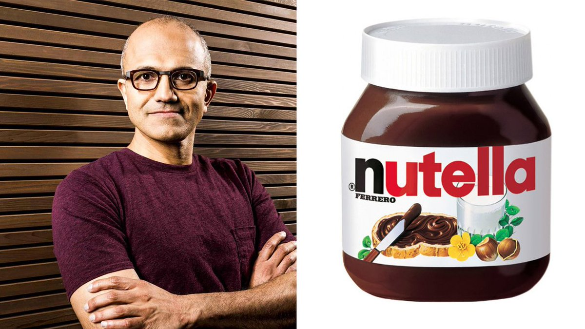 The only reason @Google didn't call it @Android Nutella, is because it sounds too much like Satya Nadella. #Nougat https://t.co/27JSb3Fzqe