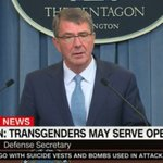 BREAKING: Pentagon announces it is repealing ban on transgender people serving openly in the military. https://t.co/oj356rJFYC