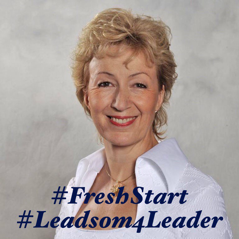 I'm backing #Leadsom4Leader https://t.co/EnPxlJqQA0 #Andrea4UK #FreshStart https://t.co/G40YOGJDcu