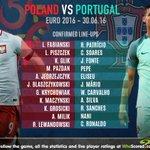 CONFIRMED LINEUPS: Poland vs Portugal #POLPOR https://t.co/z5OI4YacDJ