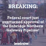 This is a huge victory for the First Nations and northern communities whove worked tirelessly to stop #Enbridge https://t.co/zfLs5aYYQt